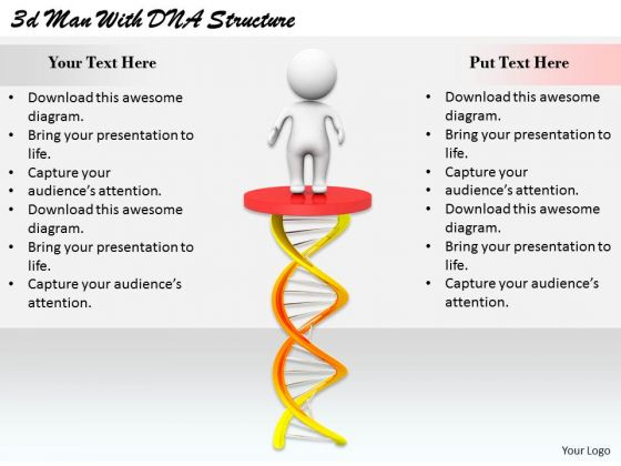 Innovative Marketing Concepts 3d Man With Dna Structure Basic Business