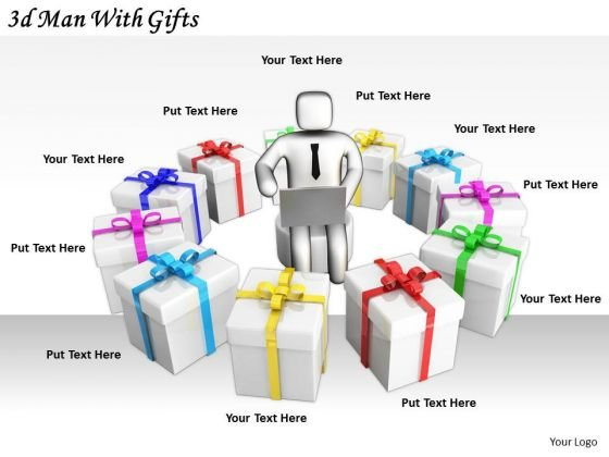 Innovative Marketing Concepts 3d Man With Gifts Basic Business