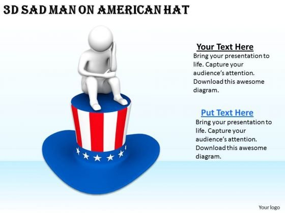 Innovative Marketing Concepts 3d Sad Man American Hat Characters