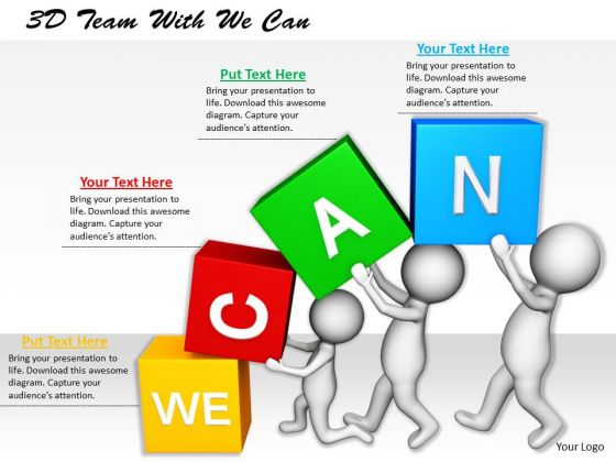 Innovative Marketing Concepts 3d Team With We Can Characters