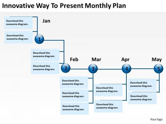 Innovative Way To Present Monthly Plan PowerPoint Templates Ppt Slides Graphics