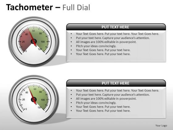 Instrument Tachometer Full Dial PowerPoint Slides And Ppt Diagram Templates
