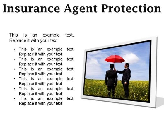 Insurance Agent Protection Security PowerPoint Presentation Slides F