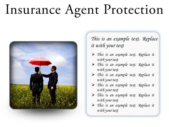 Insurance Agent Protection Security PowerPoint Presentation Slides S