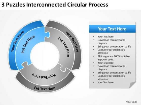 Interconnected Circular Process Ppt How To Business Plan PowerPoint Templates