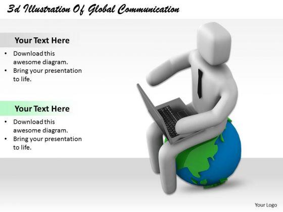 International Marketing Concepts 3d Illustration Of Global Communication Basic Business