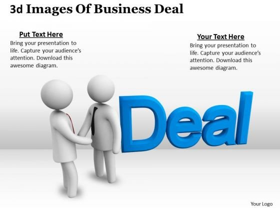 International Marketing Concepts 3d Image Of Business Deal Character