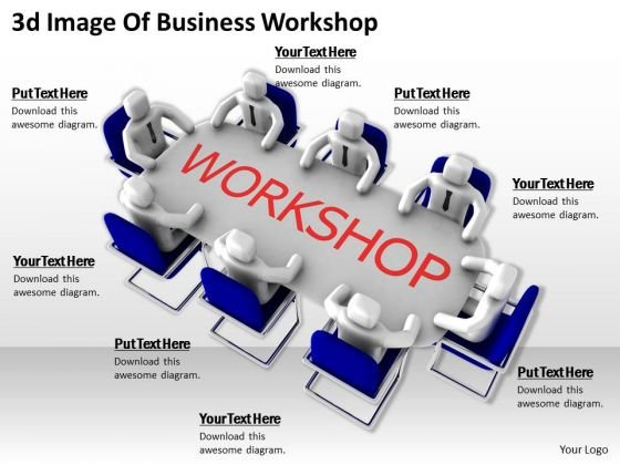 International Marketing Concepts 3d Image Of Business Workshop Character