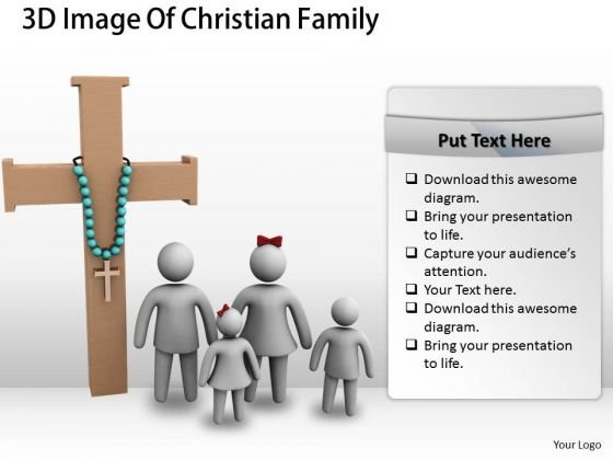International Marketing Concepts 3d Image Of Christian Family Character