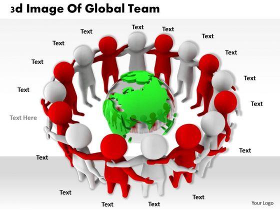 International Marketing Concepts 3d Image Of Global Team Business Statement