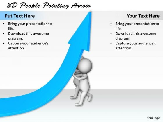 International Marketing Concepts 3d People Pointing Arrow Business