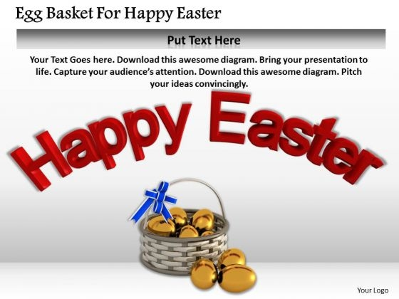International Marketing Concepts Egg Basket For Happy Easter Business Image