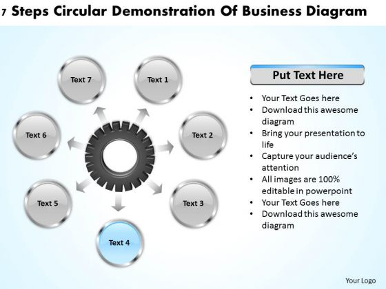 International Marketing Concepts Steps Circular Demonstration Of Business Diagram PowerPoint