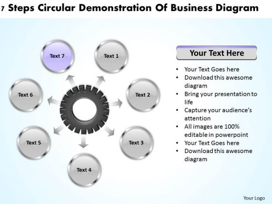 International Marketing Concepts Steps Circular Demonstration Of Business Diagram Ppt 8 PowerPoint