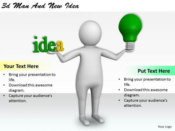 Internet Business Strategy 3d Man And New Idea Basic Concepts