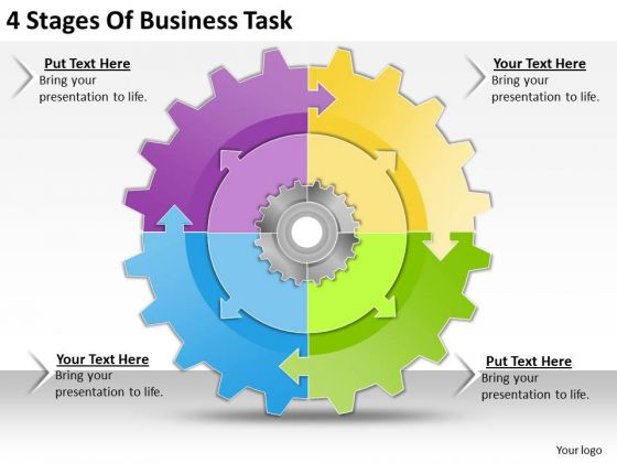 Internet Business Strategy 4 Stages Of Task Strategic Planning Template Ppt Slide