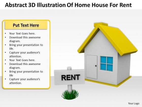 Internet Business Strategy Abstract 3d Illustration Of Home House For Rent Photos