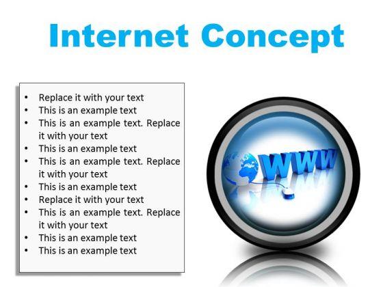 Internet Concept Global PowerPoint Presentation Slides Cc
