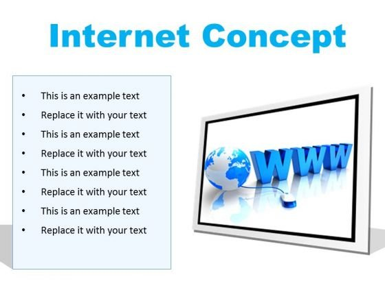 Internet Concept Global PowerPoint Presentation Slides F