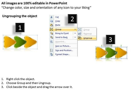 interrelated_triangular_arrows_bee_line_3_stages_customer_tech_support_powerpoint_slides_2