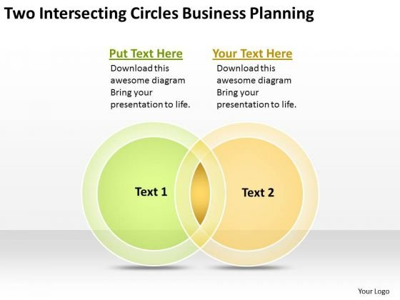 Intersecting Circles Business Planning For Small PowerPoint Slides
