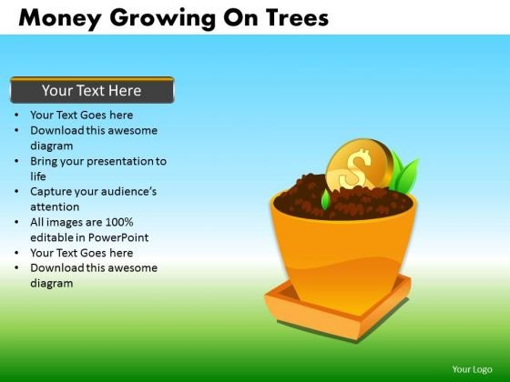 Invest Dollar PowerPoint Templates Grow Dollars Ppt Slides