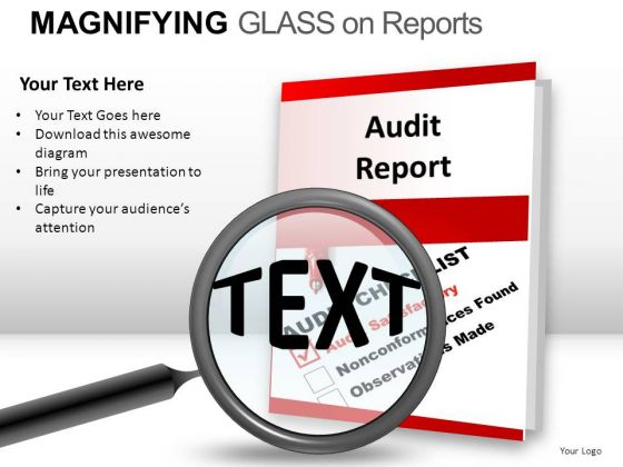 Investigation Magnifying Glass On Report PowerPoint Slides And Ppt Diagram Templates