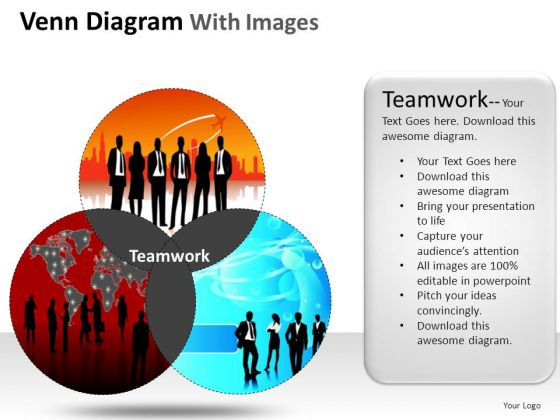 venn diagrams powerpoint templates, Modern powerpoint