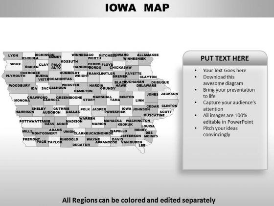 Iowa PowerPoint Maps