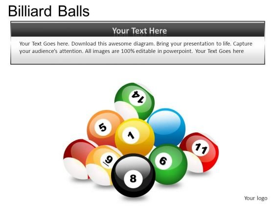 Isolated Billiard Balls PowerPoint Slides And Ppt Diagram Templates