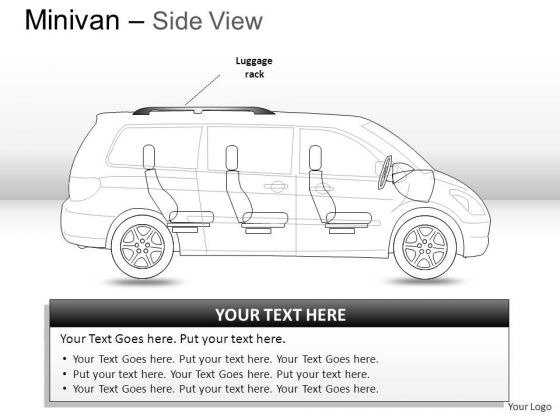 Isolated Green Minivan Side View PowerPoint Slides And Ppt Diagram Templates