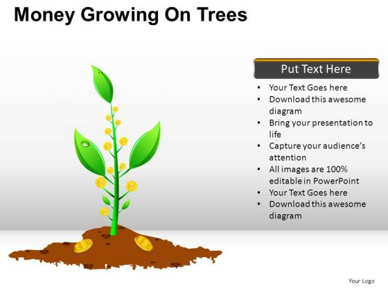 Isolated Money Growing On Trees PowerPoint Slides And Ppt Diagram Templates