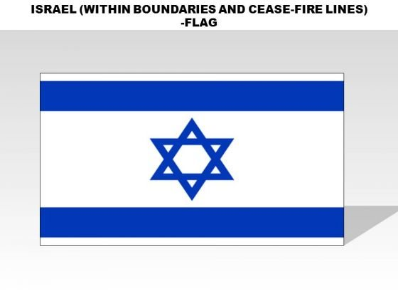 Israel Within Boundaries And Cease Fire Lines Country PowerPoint Flags