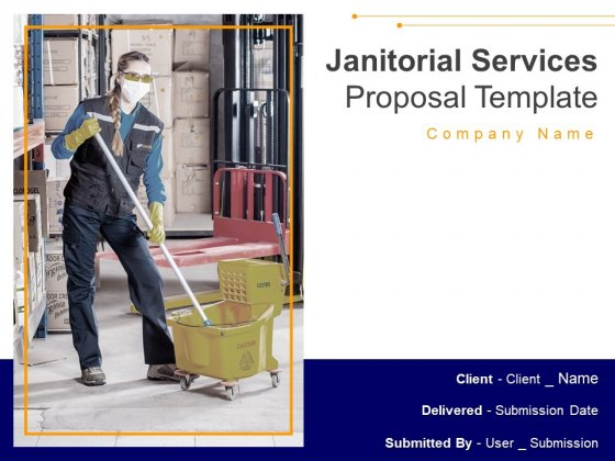 Janitorial Services Proposal Template Ppt PowerPoint Presentation Complete Deck With Slides