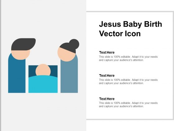 Jesus Baby Birth Vector Icon Ppt PowerPoint Presentation Gallery Visuals