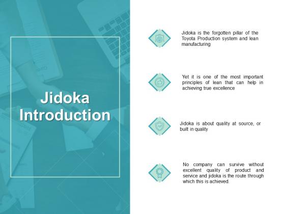 Jidoka Introduction Management Ppt PowerPoint Presentation Summary Guidelines