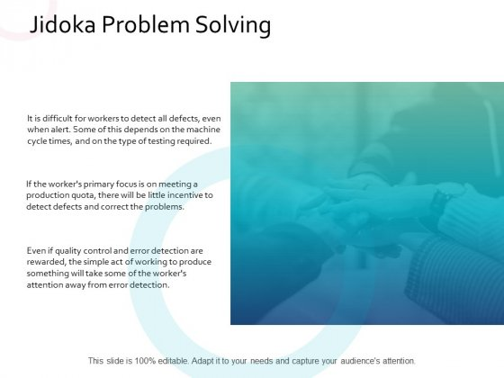 Jidoka Problem Solving Management Ppt PowerPoint Presentation File Elements