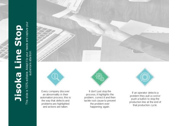 Jisoka Line Stop Marketing Ppt PowerPoint Presentation Slides Graphics Example