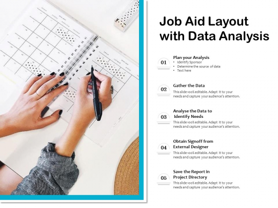Job Aid Layout With Data Analysis Ppt PowerPoint Presentation File Themes PDF