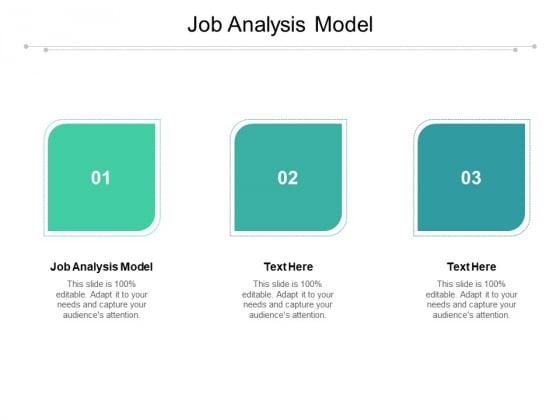 Job Analysis Model Ppt PowerPoint Presentation Show Summary Cpb Pdf