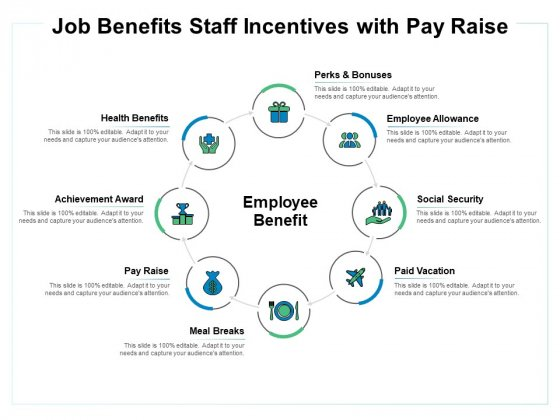 Job Benefits Staff Incentives With Pay Raise Ppt PowerPoint Presentation Professional Graphics