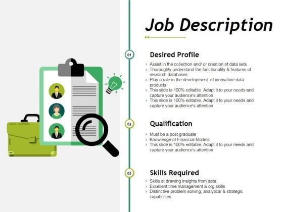 Job Description Ppt PowerPoint Presentation Pictures Infographics