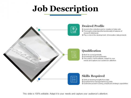 Job Description Ppt PowerPoint Presentation Portfolio Grid