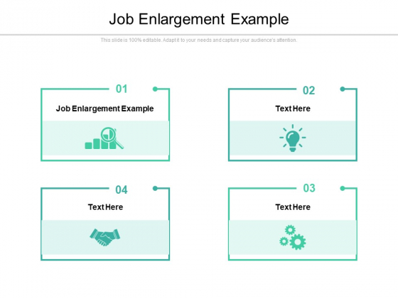 Job Enlargement Example Ppt PowerPoint Presentation Infographics Show Cpb