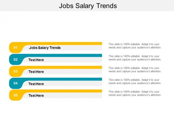 Jobs Salary Trends Ppt PowerPoint Presentation Inspiration Design Templates Cpb