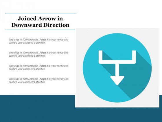 Joined Arrow In Downward Direction Ppt PowerPoint Presentation Outline Slide