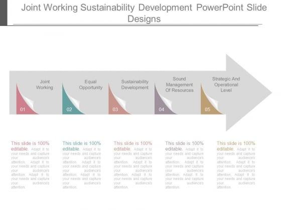 Joint Working Sustainability Development Powerpoint Slide Designs