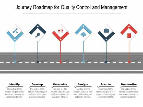 Journey Roadmap For Quality Control And Management Ppt PowerPoint Presentation Infographic Template Graphics Tutorials PDF