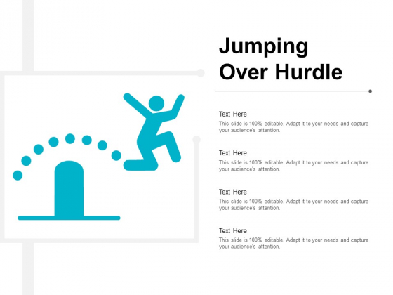 Jumping Over Hurdle Ppt PowerPoint Presentation Gallery Template