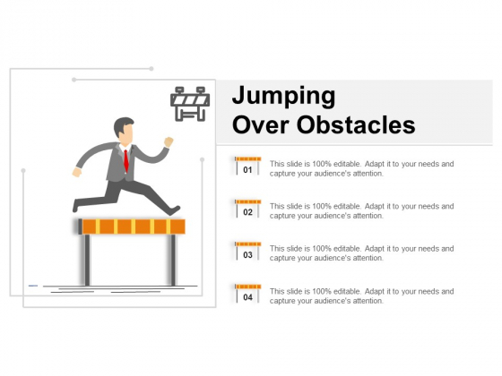 Jumping Over Obstacles Ppt PowerPoint Presentation File Grid